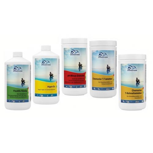 Chemijos komplektas CHEMOFORM baseinams su smėliniu filtru, mažas