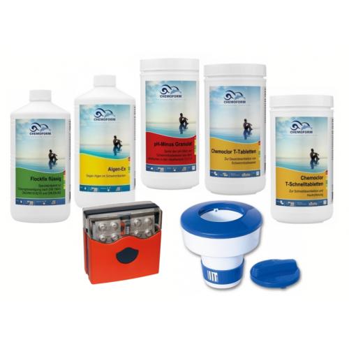 Priežiūros komplektas CHEMOFORM baseinams su smėliniu filtru, mažas