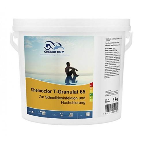 Greito tirpimo chloras CHEMOFORM CHEMOCLOR T-65 (chloro šokas) granulės, 5kg