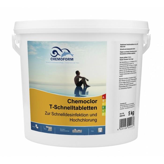 Greito tirpimo 20g chloro tabletės  CHEMOFORM CHEMOCLOR T (greitas chloras, šokas), 5kg