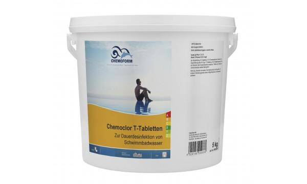 Lėtai tirpstančios 20g chloro tabletės CHEMOFORM CHEMOCLOR T (lėtas chloras), 5kg