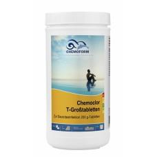 Lėtai tirpstančios 200g chloro tabletės CHEMOFORM CHEMOCLOR T (lėtas chloras), 1kg