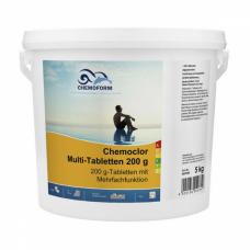 MULTI tabletės 200g (chloras,algicidas,flokuliantas) CHEMOFORM, 5kg